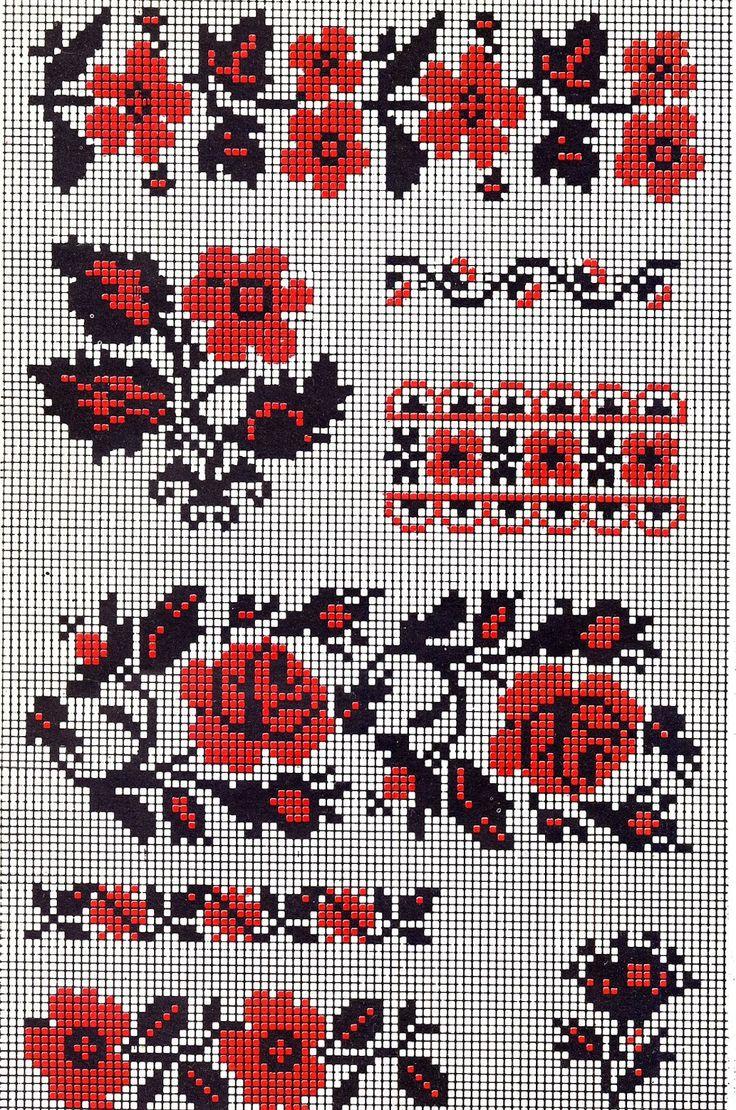 Схемы вышивки крестом для украинской вышиванки