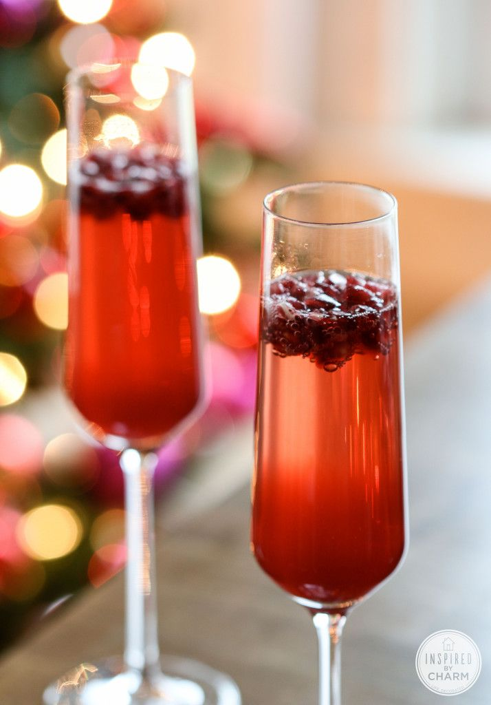 Sparkling pomegranate cocktails recipe dishmaps for How to make martini cocktail