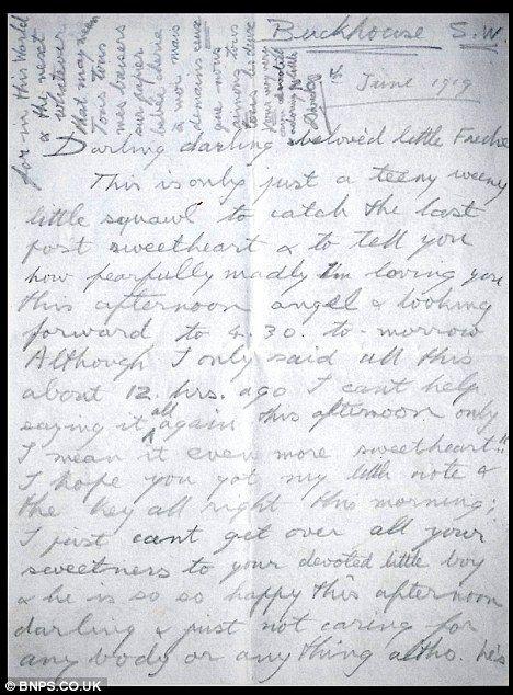 My Darling Fredie Wedie Edward VIIIs Love Letter To His