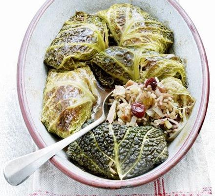 Braised Stuffed Cabbage Slow-cooked cabbage leaves stuffed with ...