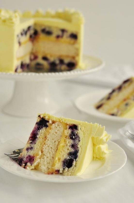 Triple-Lemon Blueberry Layer Cake | Food And Drinks | Pinterest