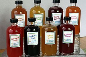 Homemade soda stream flavoring syrups. No artificial ingredients!