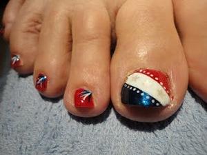 july 4th toenail art