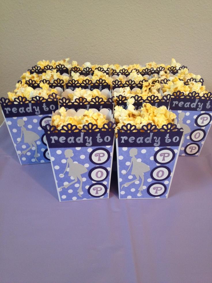 baby shower popcorn buckets crafts pinterest