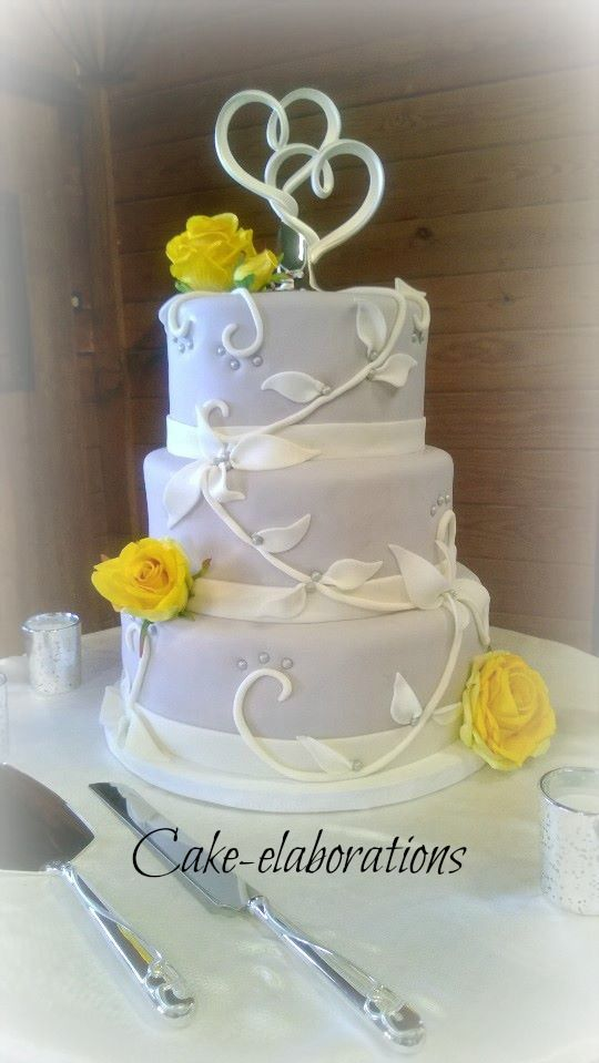 grey and yellow wedding cake cake cakes and cakes cupcakes pin