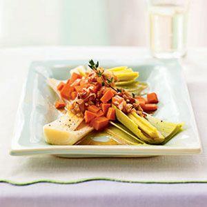Braised Leeks with Warm Pancetta Dressing | MyRecipes.com I know I ...