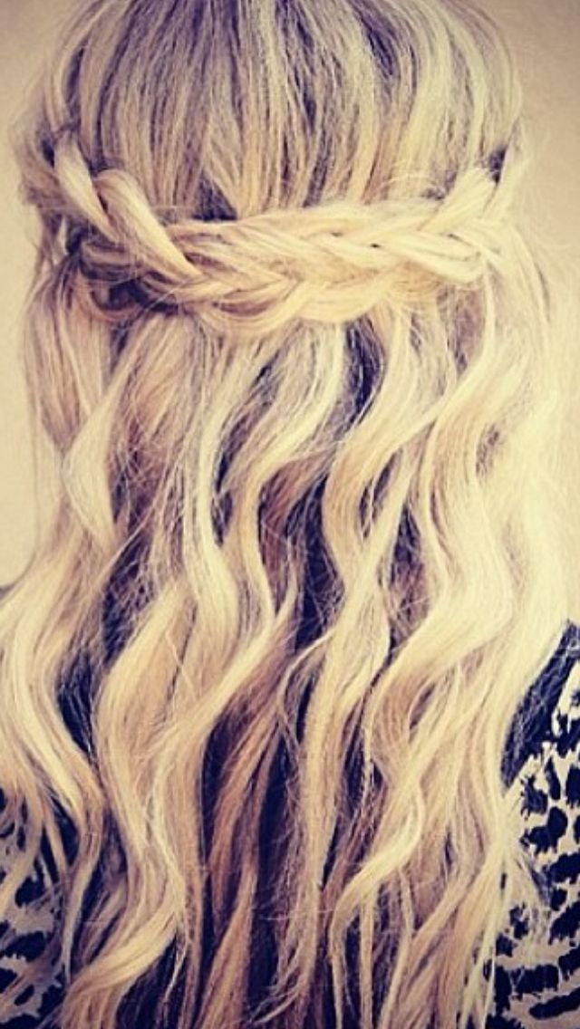 half up half down hairstyles for long hair : Braided hair- half up/half down style Im liking the braid but would ...