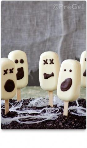 Frozen Ghost Pops // Recipes by PreGel AMERICA