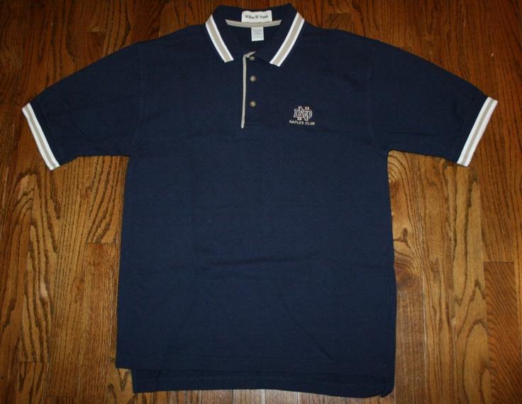 Notre dame club naples florida polo golf shirt men 39 s small for Notre dame golf shirts