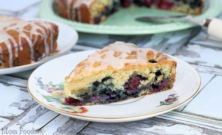 Vanilla Iced Double Berry Coffee Cake Recipe #FlavorStory | Recipe