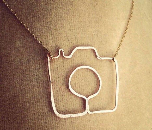 Camera necklace -- lovely handmade gift for your favorite shutterbug.