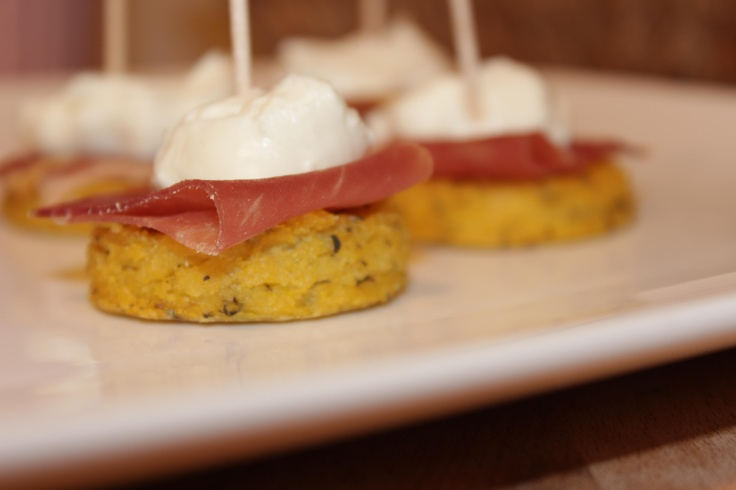 Baked Sage Polenta With Prosciutto And Fontina Recipe — Dishmaps