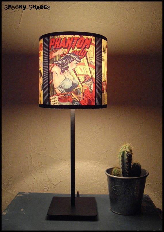 Comic Covers Lamp Shade Lampshade Lighting Fun Lamp