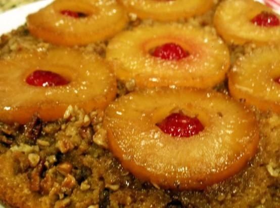 Iron Skillet Pineapple Upside-down Cake - for Laura and Jerry