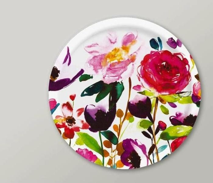 Red Roses Tray by Fiona Douglas