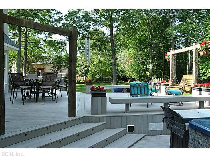 Great Backyard Decks : What a great backyard deck!  Greenbrier Office  Pinterest