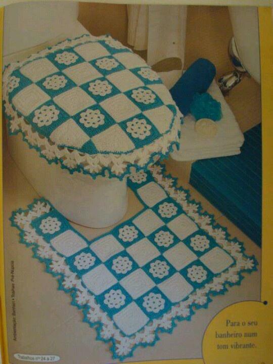 Juegos De Baño A Gancho:Crochet Toilet Set Diagrams
