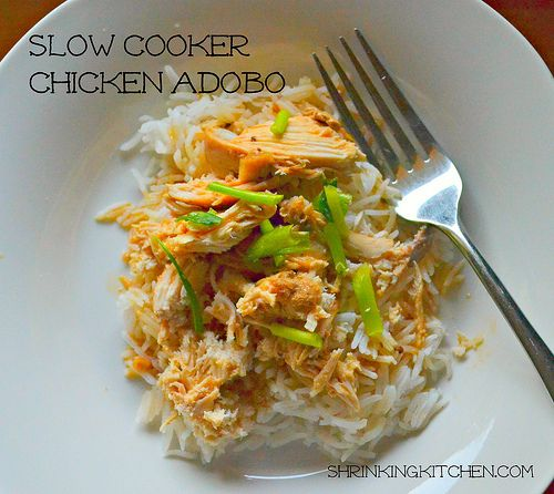Slow cooker Chicken Adobo - a traditional Filipino dish gets super ...