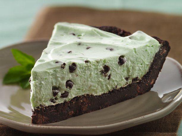 Gluten Free Crème de Menthe Brownie Pie