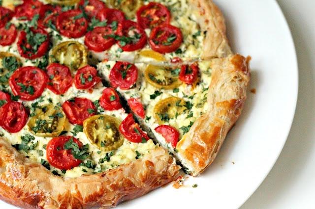 Milk and Honey: Ricotta and Tomato Tart | Food- Pies Tarts Pastries S ...