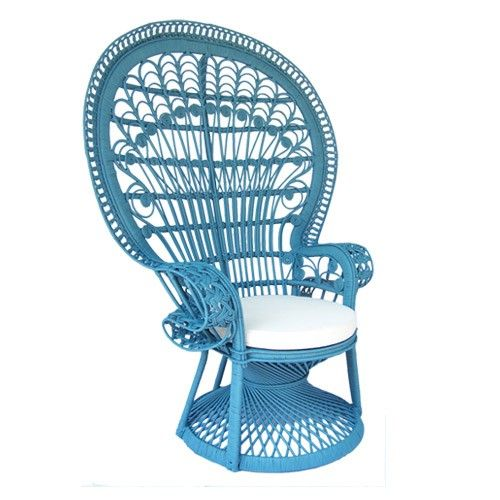 how I LOVE these peacock chairs..... Peacock Chair - Ocean Blue