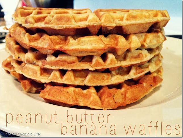 peanut butter banana waffles, waffle recipe, banana waffle, peanut ...