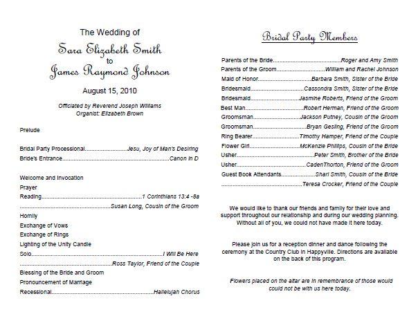 Traditional wedding program template weddings pinterest for Wedding reception program template free