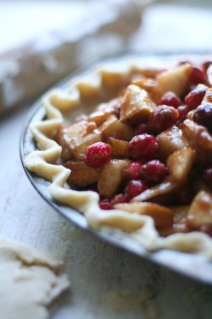 Cranberry Pear pie!!! One of the best pies I've ever made!! I used my ...