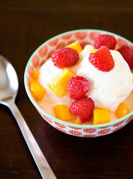 frozen yogurt. 1--32 oz. frozen yogurt, 1/2 cup sugar (or 1/3 agave ...