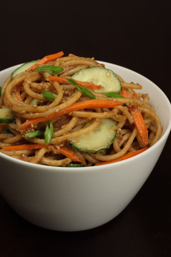 Peanut Sesame Noodles | Favorite Foods & Spaces | Pinterest