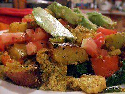 Southwestern Tofu Scramble with Greens | healthy | Pinterest