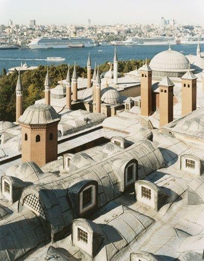 Một tấm ảnh toàn cảnh hiếm hoi của Istabul chụp từ cung điện