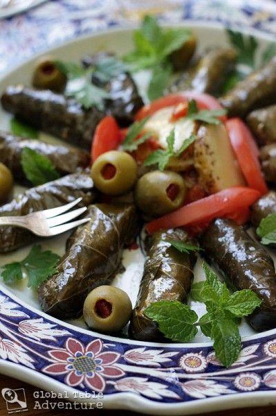 Recipe: Stuffed Grape Leaves | Warak Enab | Global Table Adventure