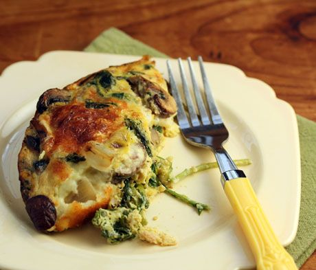 Recipe for breakfast casserole with kale, bacon, mushrooms and onions ...
