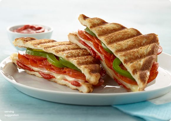 Pepperoni and Mozzarella Panini | Let's Do Lunch | Pinterest