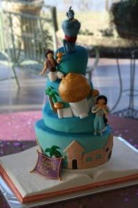 Jasmine & Aladdin Birthday Cake