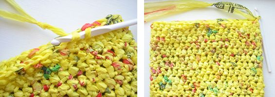 "to crochet an eco-friendly tote from how to create the ""grocery bag"