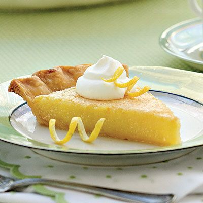 Lemon Chess Pie Recipe - Old-Fashioned Pies & Cobblers Recipes ...