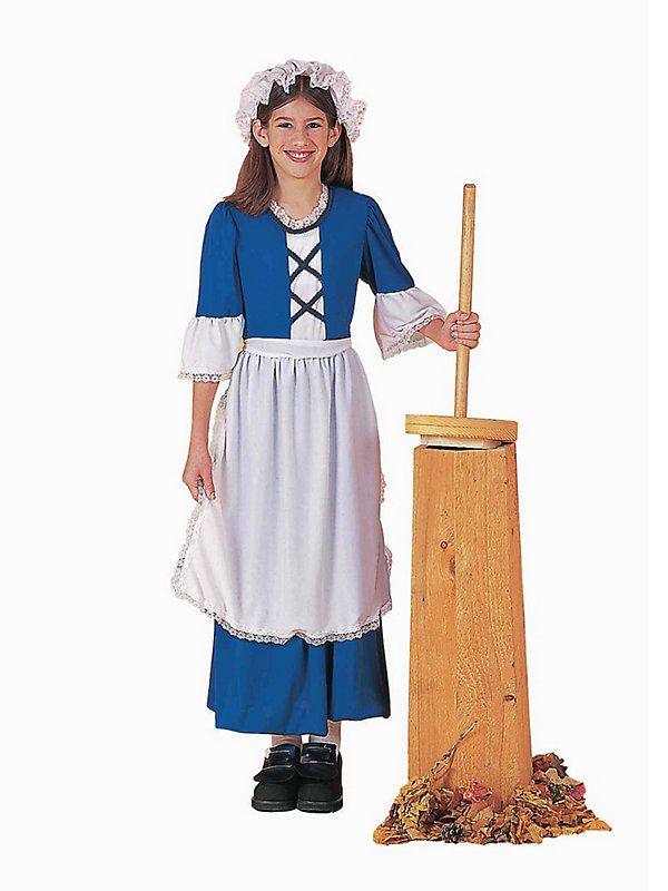Child Colonial Girl Costume #Thanksgiving #costume