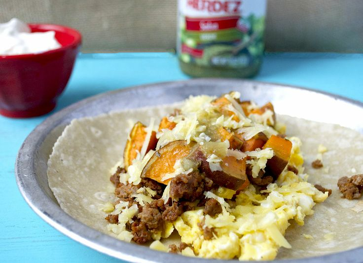 Sweet Potato & Chorizo Breakfast Tacos