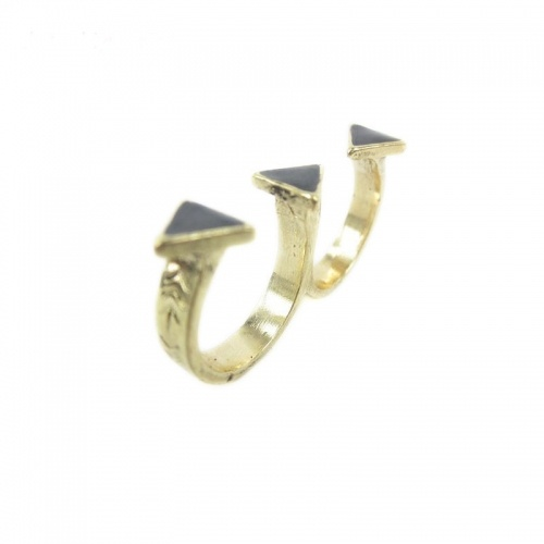 Simple Cool Fashion Antique Double Ring