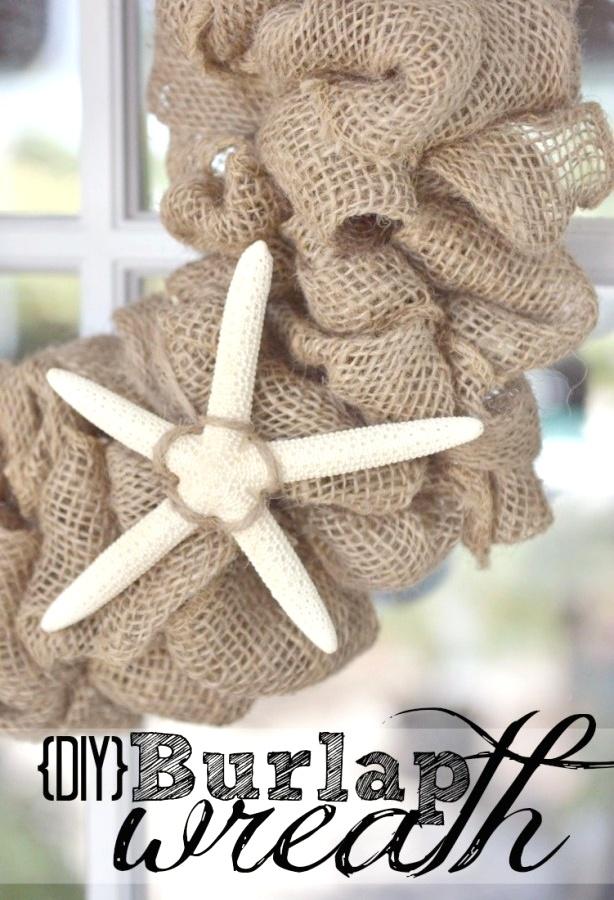 Diy burlap wreath super easy wreath takes less than 15 minutes to
