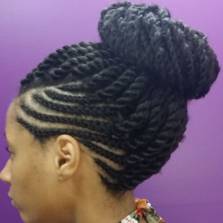 How to wear box braids in a bun