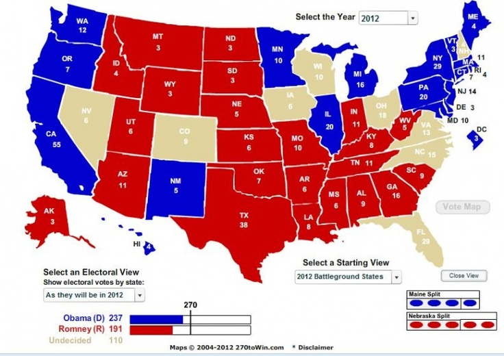 presidential polls 270 to win
