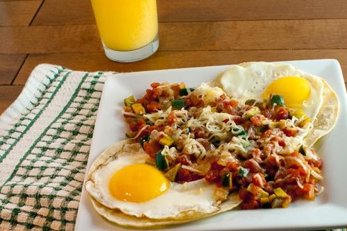 Huevos Rancheros With Roasted Tomato Sauce Recipes — Dishmaps