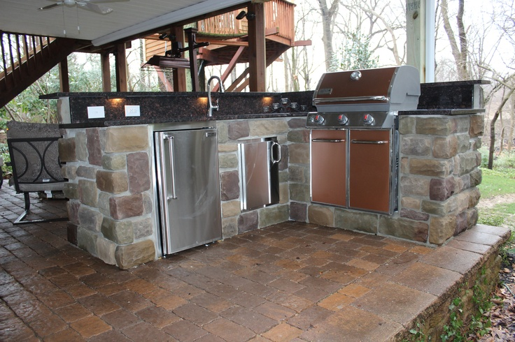 simple outdoor kitchen home decor