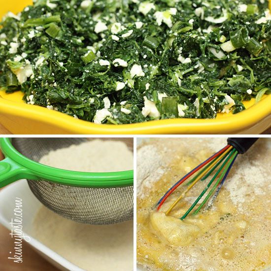 Easy Crust-less Spinach and Feta Pie | Skinnytaste I could eat half of ...