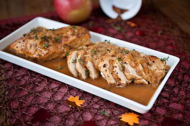 Apple Cider Chicken with Caramelized Shallots // Crepes of Wrath