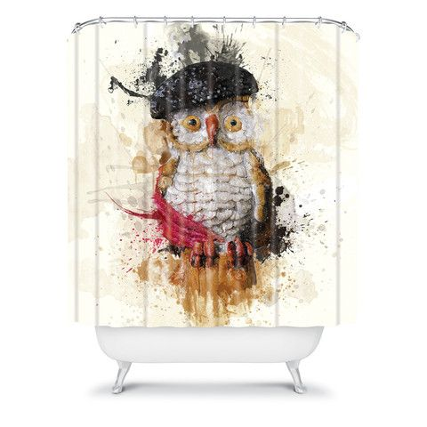 msimioni spain owl shower curtain