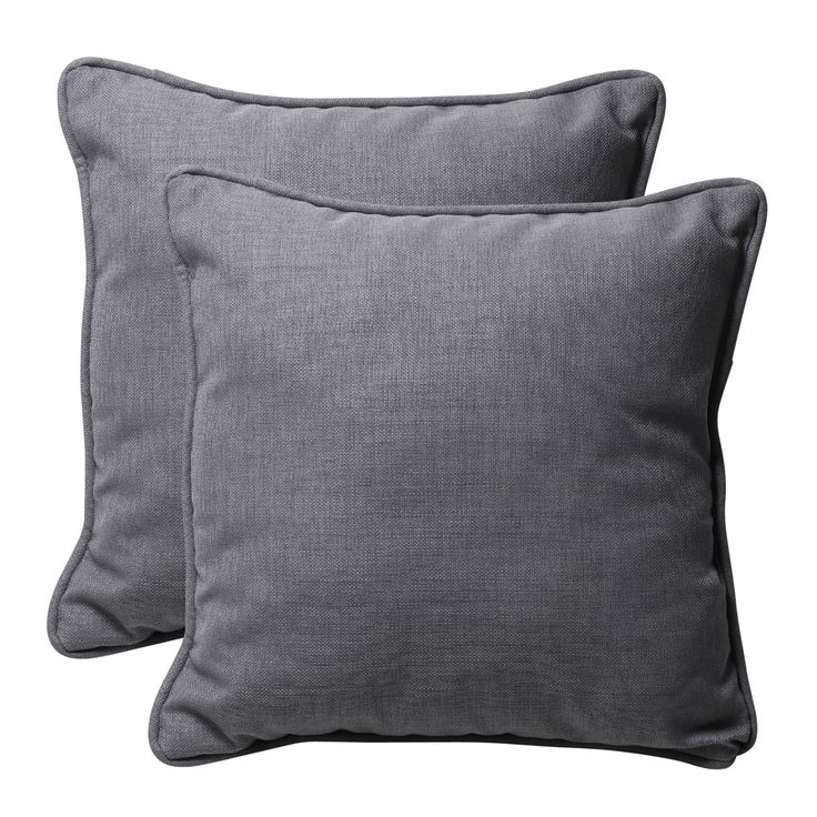 Throw Pillows Green : 18x18 gray outdoor pillows overstock Porch Pinterest